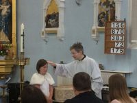Receiving the Sacrament of Baptism