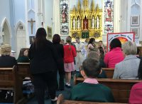 The Year 6 children being presented for the Sacrament of Confirmation.