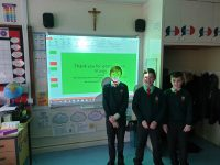 Finley, Ryan and Jude led Y5's Class Liturgy