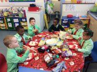 We enjoyed eating Chinese food.